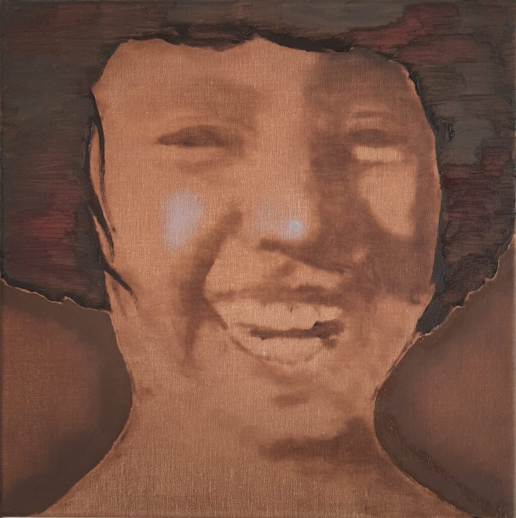 AHAHAHAH, oil on linen, 30x30, 2019
