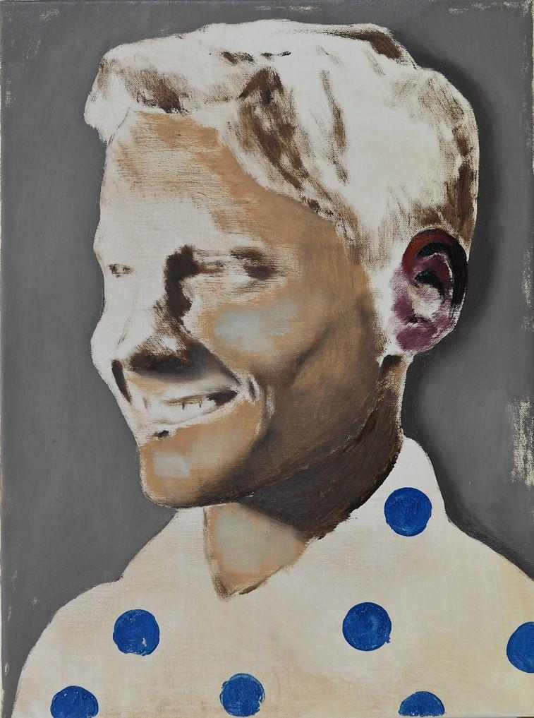 Smiling boy, oil on linen, 30x40, 2018