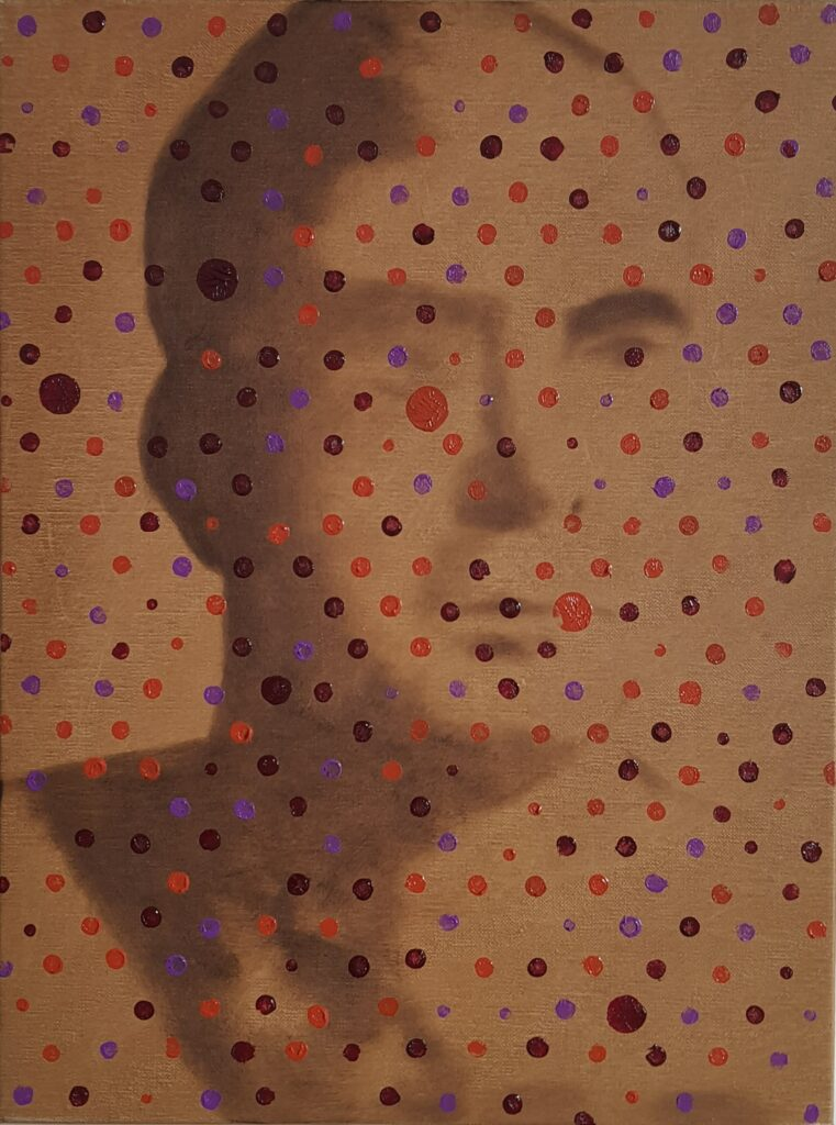Dots, oil on linen, 30x40, 2021